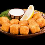 Fried Feta Cheese with Honey