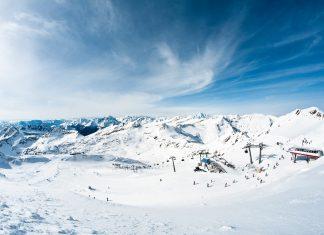 modern ski resort