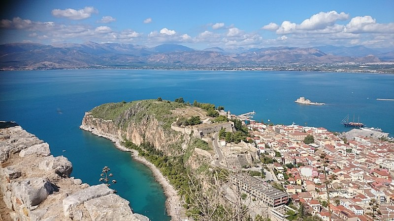 Nafplio from above